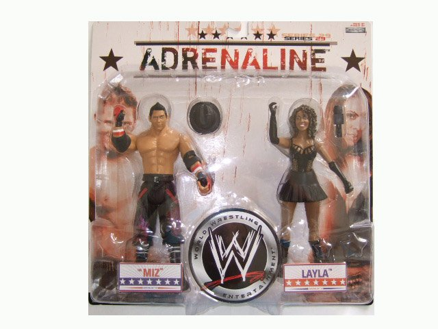 WWE Adrenaline 29 - The Miz & Layla Action Figure 2-Pack