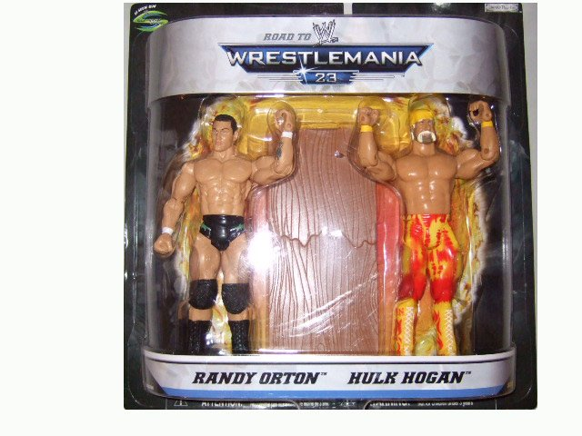 WWE Road to Wrestlemania 23 - Randy Orton & Hulk Hogan Action Figure 2-Pack