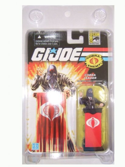 San Diego Comic Con 2008 Exclusive - GI Joe Cobra Commander(Black Suit) Action Figure