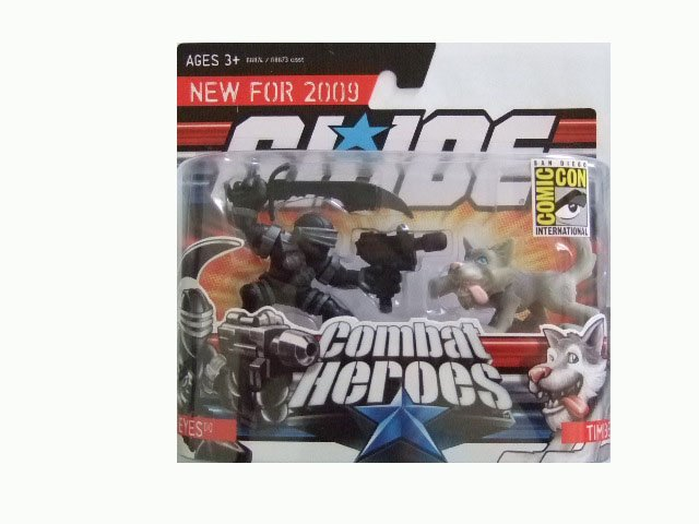San Diego Comic Con 2008 Exclusive - GI Joe Combat Heroes Snake Eyes and Timber Action Figure