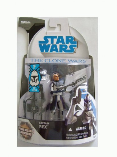 Star Wars The Clone Wars 1st Day of Issue - Captain Rex Action Figure
