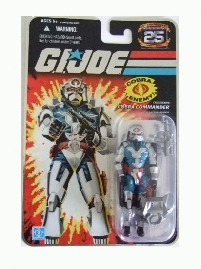 GI Joe 25th Anniversary Wave 6 - Cobra Commander in Battle Armor Action Figure
