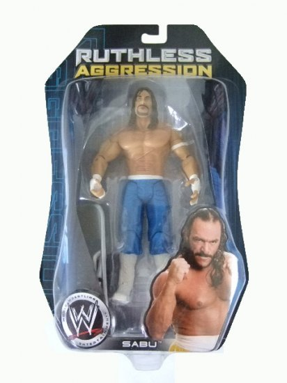 WWE Ruthless Aggression Series 24 - Sabu Blue Pants Variant Action Figure Ring Rage
