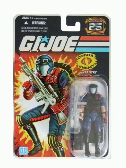 GI Joe 25th Anniversary Wave 7 - Cobra Viper Action Figure