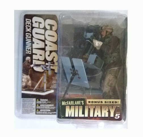 McFarlane Military Series 5 - Coast Guard Deck Gunner (Caucasian) Action Figure