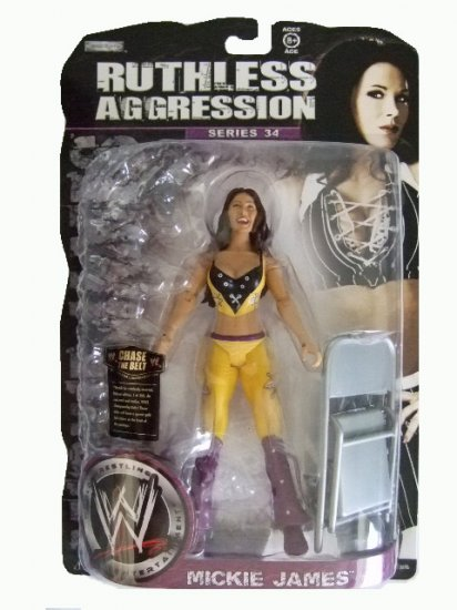 WWE Ruthless Aggression Series 34 - Mickie James Action Figure Ring Rage