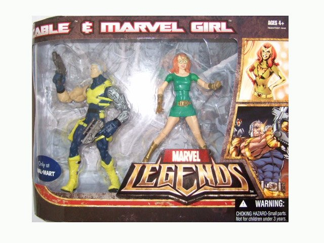 Marvel Legends Exclusive - Cable and Marvel Girl Action Figure 2-Pack