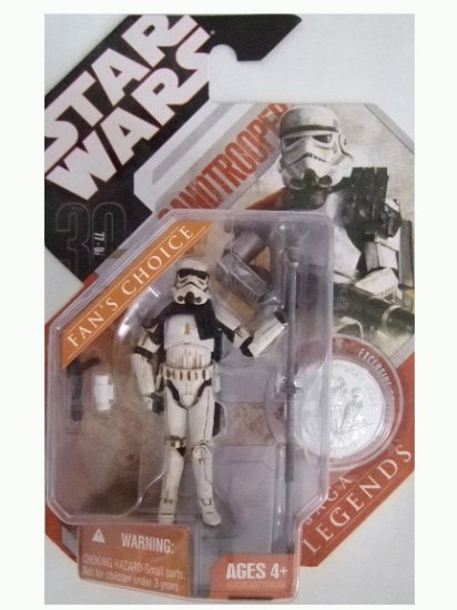 Star Wars 30th Anniversary Saga Legends - Sandtrooper (Dirty, Grey) Action Figure