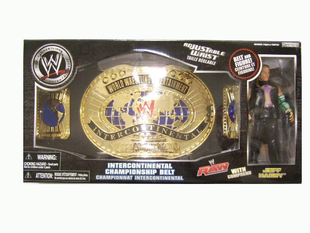 WWE Jeff Hardy with Intercontinental Championship Belt Accessory