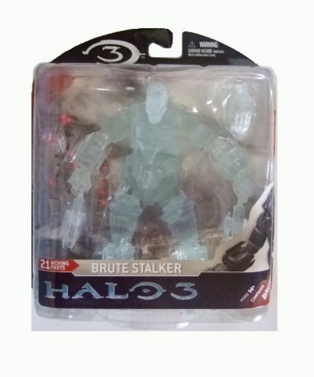 Mcfarlane Halo 3 Series 3 - Brute Stalker Clear Variant Action Figure