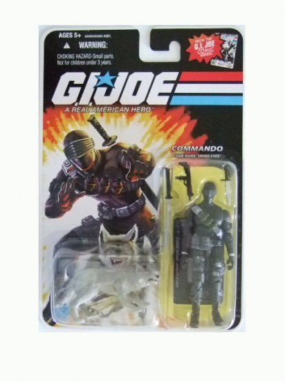 GI Joe 25th Anniversary Reissue - Snake Eyes with Timber Action Figure