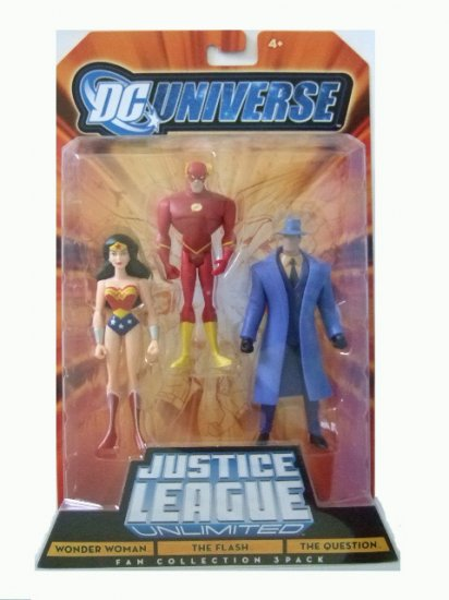 DC Universe: Justice League Unlimited - Wonder Woman, Flash & The Question Action Figure 3-Pack