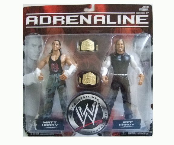 WWE Adrenaline 27 - Matt and Jeff Hardy (Distressed Packaging) Action Figure 2-Pack