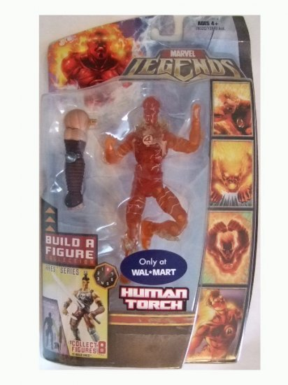 Marvel Legends Series 6 Exclusive - Human Torch Variant Action Figure