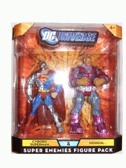 DC Universe Super Enemies - Cyborg Superman and Mongul Action Figure 2-Pack