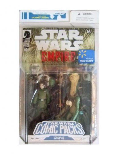 Star Wars Exclusive Comic Pack - Janek Sunbar & Amanin Action Figure 2-Pack