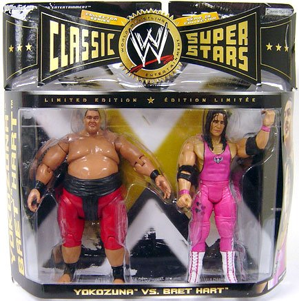 WWE Classic Superstars Limited Edition - Yokozuna & Bret Hart Action Figure 2-Pack