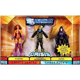 DC Universe Infinite Heroes - Starfire, Captain Boomerang and Raven Action Figure 3-Pack