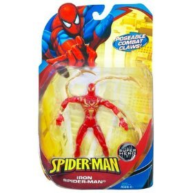 Spider-Man Trilogy Series 3 -  Iron Spider-Man (Clear Red Variant) Action Figure