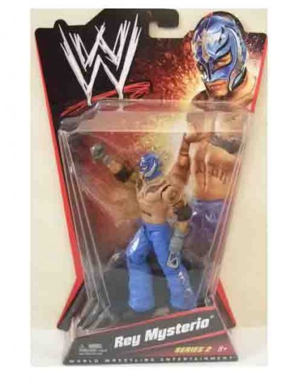 WWE Mattel Basic Series 2 - Rey Mysterio (Dark Blue Costume) Action Figure