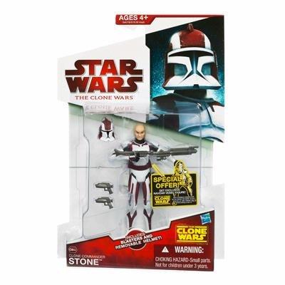 Star Wars Clone Wars - Clone Commander Stone Action Figure