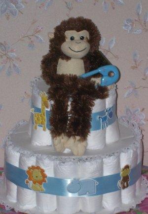 Animal Crakers Premium 3 Tier Diaper Cake