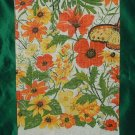 Floral Linen Tea Towel