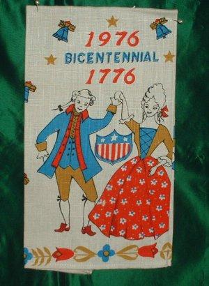 1976/1776 Bicentennial Linen Tea Towel