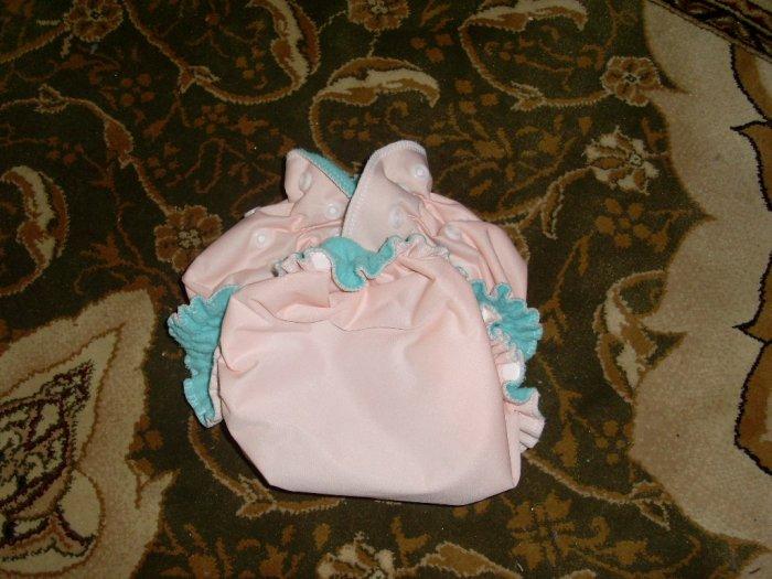AIO OS All In One One Size cloth diaper peach