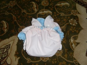 AIO OS All In One One Size cloth diaper pale peach
