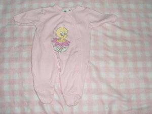 preemie premie baby footed sleeper one piece outfit girl