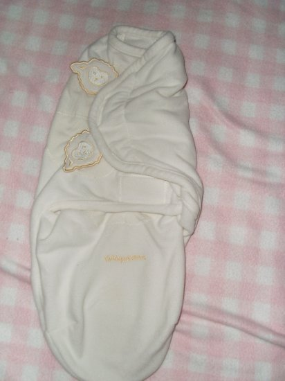 Kiddapotomus Swaddle Me blanket, swaddle blanket, baby girl boy cream color