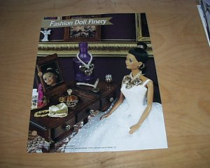 FASHION DOLL FINERY PLASTIC CANVAS PATTERN