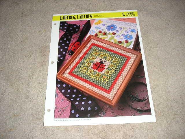 HOME DECOR - Ladybug, Ladybug Plastic Canvas Pattern