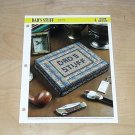 HOME DECOR - Dad's Stuff Plastic Canvas Pattern