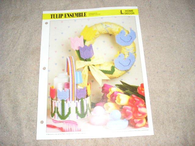 HOME DECOR - Tulip Ensemble Plastic Canvas Pattern