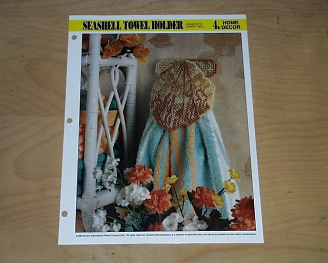 HOME DECOR - Seashell Towel Holder Plastic Canvas Pattern