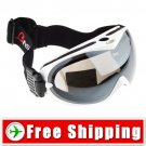 Snowboard Ski Goggles Anti-Fog Dual Lens White Frame FREE Shipping