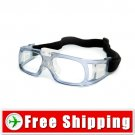 Sports Outdoor Safety Glasses Goggles Light Blue Frame FREE Shipping