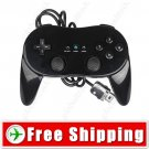Black Controller Joystick Gamepad Pro for Nintendo Wii FREE Shipping