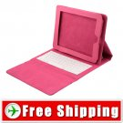 New Soft Leather Cases Built-in Keyboard for iPad Pink Color