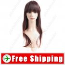 Synthetic Capless Natural Long Wig - Fringe Hairpiece