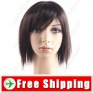 Synthetic Hair Shoulder-length Short Wig with Fringe Hairpiece