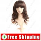 Vibrant Styling Long Synthetic Hair Long Perm Curl Wig Hairpiece