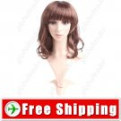 Synthetic Capless Shoulder Length Wavy Curly Wig - Hairpiece