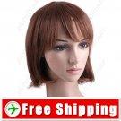 BOB Short Synthetic Hair - Thick Flat Bang Wig Hairpiece