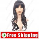 Bangs Curly Style Long Synthetic Hair Hairpiece Wig