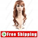 Vibrant Stylish Synthetic Hair Long Curl Perm Wig Hairpiece
