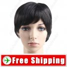 Straight Stylish Synthetic Hair Short Wig Hairpiece