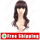 Synthetic Natural Long Wavy Curly Wig Crimped Fake Hair Hairpiece